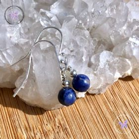 Sodalite Silver Earrings